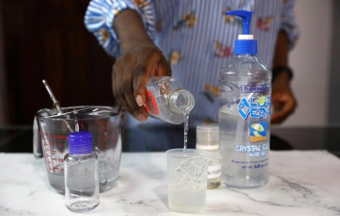 """liquor firms providing sanitizers"">"