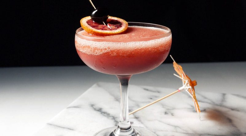 Go for the classic Blood & Sand cocktail this time! 1