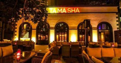 """tamasha bar with outdoor seating area."">"