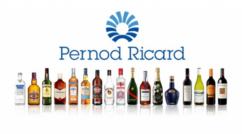 Pernod Ricard grew 1% in nine-months , down from 19% 1