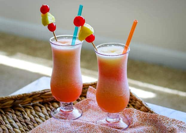 """""""Frozen bahama mama cocktail with straws"""">"""