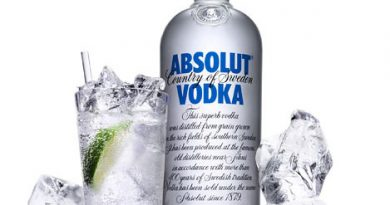 """Absolut vodka with ice."">"