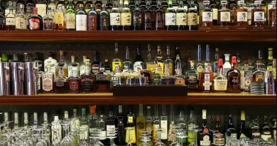 """""""Liquor shop stacked with alcohol."""">"""