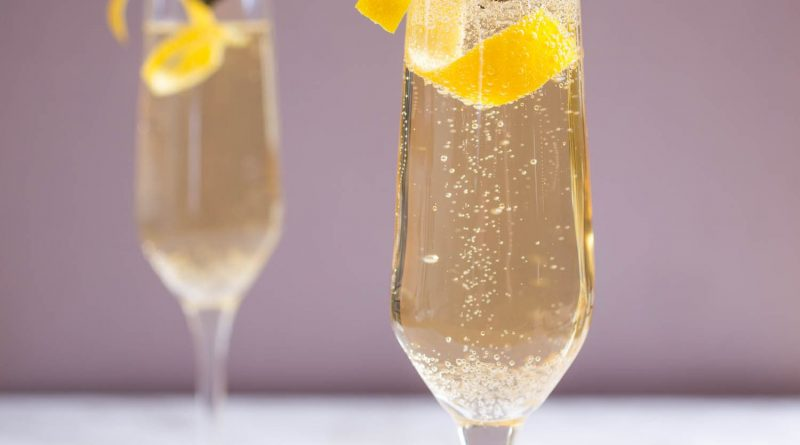 """French 75 cocktail."">"